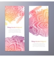 Invitation with hand drawn mandala vector image