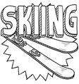 Skiing vector image