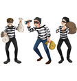 Three thieves vector image