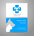 Veterinary medicine logo template vector image