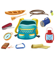 various camping objects vector image vector image