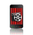 movie phone vector image vector image