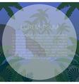Jungle Flat Background28 vector image