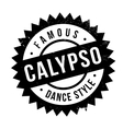 Famous dance style Calypso stamp vector image