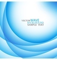 Blue abstract wavy lines vector image