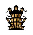 celebration card halloween scene vector image