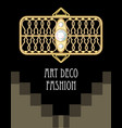 expensive art deco filigree brooch in rectangle vector image