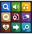 Multimedia flat icons set 4 vector image