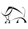Black bull on a white background vector image