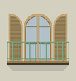 Open Door With Balcony Vintage Style vector image