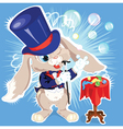 cartoon bunny conjurer vector image
