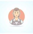 Waitress nippy restaurant servicewoman icon vector image