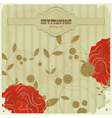 vintage card with with flowers vector image