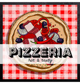 hot pizza advertisement vector image vector image