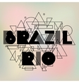 Brazil and Rio in abstract geometric style Design vector image