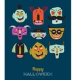 Bright Halloween trick or treat card vector image