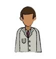 cartoon character doctor uniform health vector image
