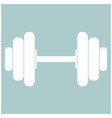 dumbbell the white color icon vector image