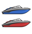 motor speed boat icon set vector image