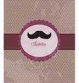 Moustache background invitation vector image