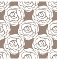 Seamless pattern with roses contours vector image