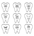 Teeth vector image