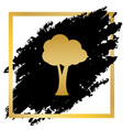 tree sign golden icon at vector image