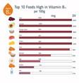 vitamin b13 or orotic acid infographic vitamin vector image
