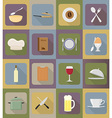 objects for food flat icons 19 vector image