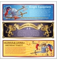 Knight Horizontal Banners Set vector image