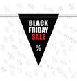 black friday sale icon in black vector image