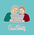 card for grandparents vector image