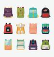 children or kids school bags or rucksacks vector image