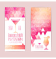 cocktail geometric triangle banner vector image