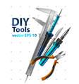 diy tools vector image