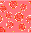 grapefruit seamless pattern vector image