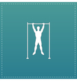 Horizontal bar and man vector image