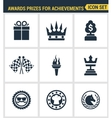 Icons set premium quality of awards prizes for vector image