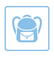 School rucksack icon vector image