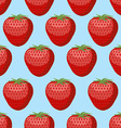 Strawberry seamless pattern Fresh red ripe vector image
