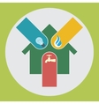 various household bills vector image
