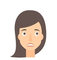 Young embarrassed woman vector image