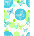 seamless background with butterflies vector image vector image