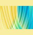 Yellow and light blue strips curved background vector image