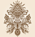 Henna Paisley Flower vector image