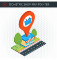 isometric shop building vector image vector image