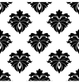 Black floral seamless pattern vector image vector image