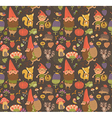 Seamless pattern with funny gnomes vector image vector image