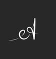 Letter A monogram logo black and white mockup line vector image
