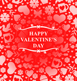 valentine day red vector image